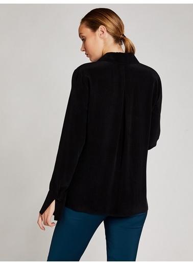 Vekem-Limited Edition Cep Detaylı Klasik Kesim Gömlek Siyah